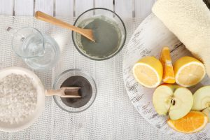 Homemade facial masks with natural ingredients,